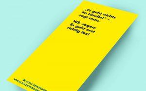 Flyer Titelseite für Ideen. Fördern. Gestalten.