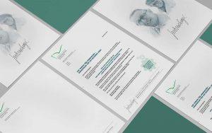 Gestaltung Briefpapier für Marion und Otto Biesenberger-Stiftung