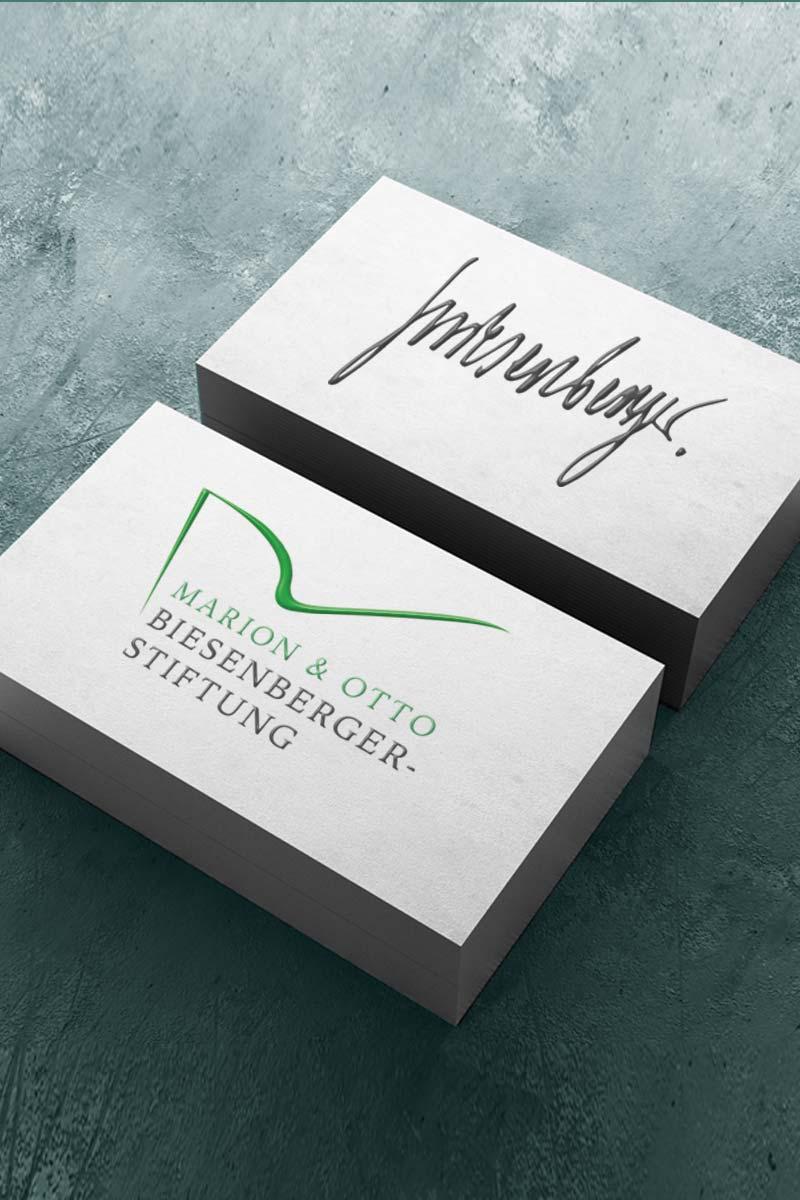 Corporate Design, Logo-Design für Marion und Otto Biesenberger-Stiftung