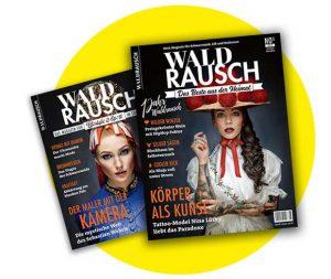 Titelseiten des Magazins Waldrausch