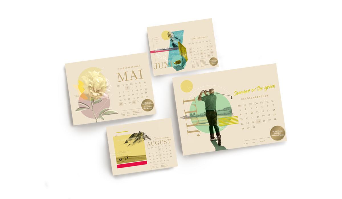 Entwürfe für Kalender für den Öschberghof