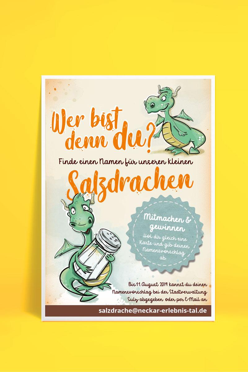 Plakat Namenswettbewerb Salzdrache