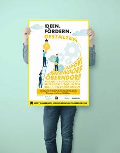 Plakatgestaltung für Ideen. Fördern. Gestalten.
