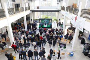 Besucher der eSports Veranstaltung des Schwarzwälder Boten in der Pulverfabrik Rottweil