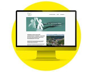 Screendesign Startseite der Marion und Otto Biesenberger-Stiftung
