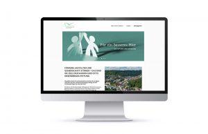 Screendesign Startseite Marion und Otto Biesenberger-Stiftung